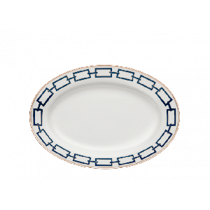 Piatto da portata ovale medio Catene Zaffiro