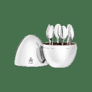 Servizio 6 cucchiaini espresso Mood Uovo